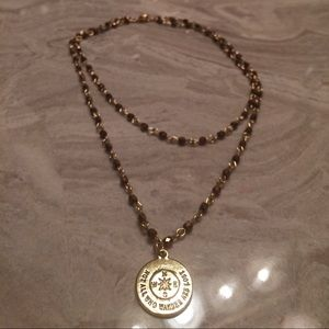 Jewelry - Copper & Gold Chain Necklace w/ Gold Charm